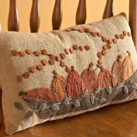 Cozy Applique Fall Pillow
