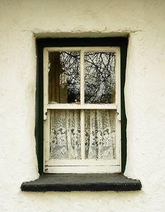 Irish cottage window.