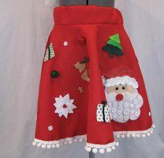 Ugly Tacky Christmas Sweater Skirt Santa by Dicardomy