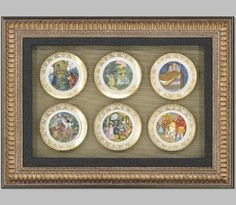 Fairy tales painted on saucers