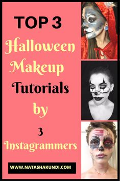 Scary makeup, Halloween 2016 costumes women, halloween 2016 makeup, Halloween ideas costume, halloween makeup scary, halloween makeup pretty, halloween makeup easy, halloween decorations, halloween food, halloween crafts. Halloween 2016 is just around the corner and aren't we all looking for some makeup inspiration? Here is some inspiration and step by step tutorials from 3 great instagrammers. Hope you can recreate these looks and don't forget follow them for more inspiration.