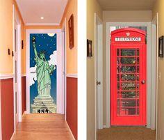 fundas puertas DoorDresse deco15 Fundas de tela para decorar las puertas