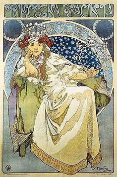 Alfons Mucha! Intricate genius! I love art nouveau and his images are some of the best! His art was all over Prague when we visited!