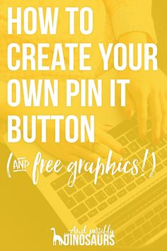 Pinterest is awesome (obviously)! But sometimes the generic pin it buttons... fall flat. Here's how to create your own (on-brand!) pin it buttons! Plus I've got some FREE for you to use if you don't have the time to make your own!