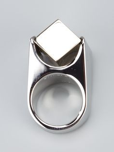 Givenchy - cube detail ring 4