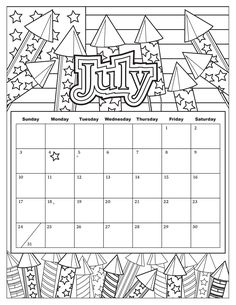 june 2019 calendar summer coloring pages printable and coloring book to print for free. Find more coloring pages online for kids and adults of june 2019 calendar summer coloring pages to print. Summer Coloring Pages, Coloring Pages For Girls, Coloring Pages To Print, Printable Coloring Pages, Coloring Books, Coloring Sheets, Kids Calendar, Free Calendar, Calendar Pages