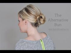 The Alternative Bun. Also good for curly hair and other textures. #bun #easyhairstyle #curlyhair