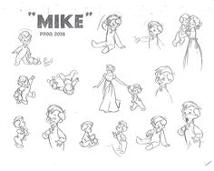 Disney Peter Pan -  Mike Model Sheet production drawing