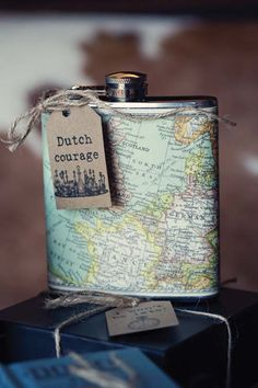 Bit of dutch courage- A handy Something Blue HIPFLASK: MA...