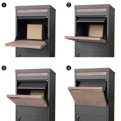 Parcel Pal Pillar A4 Dropbox Letterbox | Milkcan Outdoor Products