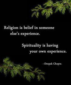 Religion/spirituality...