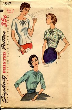 Simplicity 1547 Misses Blouse and Overblouse