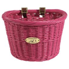 The Nantucket Pink Cruiser Bicycle Basket was designed with the classic cruiser bicycle in mind. This rattan basket is highly functional and fit nicely on many styles of retro cruiser bicycles. Perfec