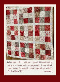 9 square block - a quilt I'd like to make some day