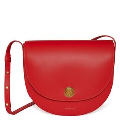 Mansur Gavriel small red saddle bag