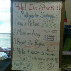 Multiplication strategies anchor chart!