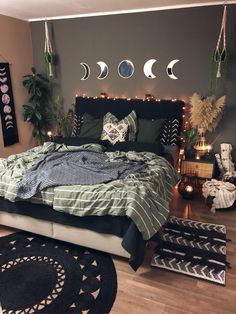Cute Bedroom Ideas, Room Ideas Bedroom, Home Bedroom, Bedrooms, Bedroom Decor, Small Room Decor, Living Room Decor, Stylish Home Decor, Diy Home Decor