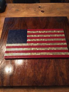 American Flag that I made out of . American Flag that I made out of More. Shotgun Shell Art, Shotgun Shell Crafts, Shotgun Shells, Bullet Casing Crafts, Bullet Crafts, Bullet Art, Bullet Shell, Ammo Crafts, Redneck Crafts
