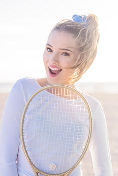 Crop Top-Hand and Neck Sun Protector White and Bijou Tennis Tennis Whites, Tennis Racket, Active Wear, Sun, Fabric, Women, Tejido, Tela, Cloths