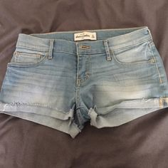 ABERCROMBIE SHORTS Fits 0 AF / 1 HOLLISTER. Negotiable. Use offer button. Abercrombie & Fitch Shorts Jean Shorts