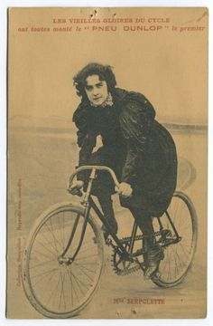Cette série sur le cyclisme féminin d'antan, se termine avec Mlle Serpolette, une femme pionniére dans le domaine de la bicyclette et de la moto et du tricycle motorisé.  En savoir plus (english): The dawn of the motor age in South Australia
