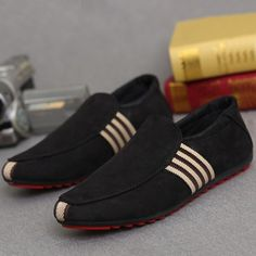 Mens trendy slip-on support shoes for the stylish men Modern design offers a cool stylish look Great for a casual day out or special occasion Made from high quality material Available in 2 colors Casual Loafers, Leather Loafers, Suede Leather, Loafers Men, Casual Shoes, Men Casual, Stylish Men, Suede Shoes, Loafer Shoes