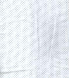 Snuggle Flannel Fabric-White/Blue Dot