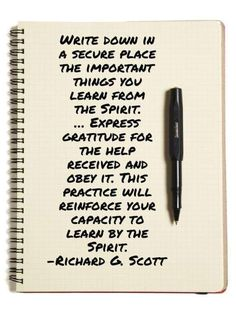 15b9ceef2 ... important things you learn from the Spirit. … Express gratitude for the  help received and obey it. This practice will reinforce your capacity to  learn ...