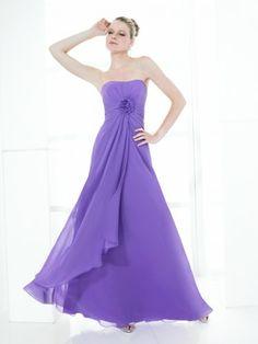 Chiffon Soft Sweetheart Floor-Length A-line Bridesmaid Dress