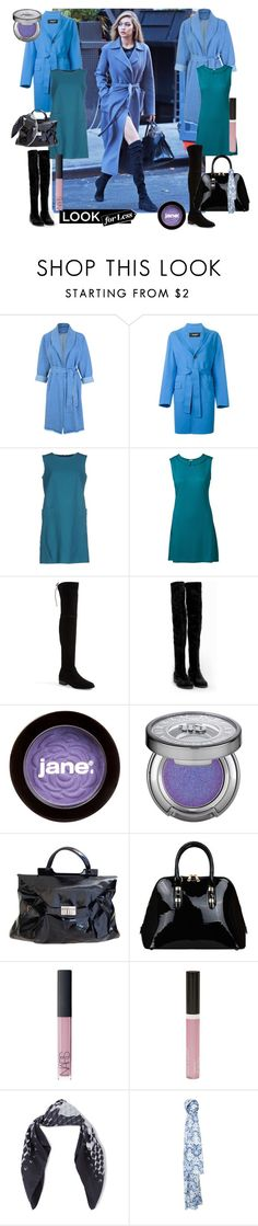 """""""Gigi Hadid Street Style Off the Clock"""" by sojazzed ❤ liked on Polyvore featuring Urban Bliss, Dsquared2, Alberta Ferretti, Stuart Weitzman, Nly Shoes, jane, Urban Decay, Marni, NARS Cosmetics and Wet n Wild"""