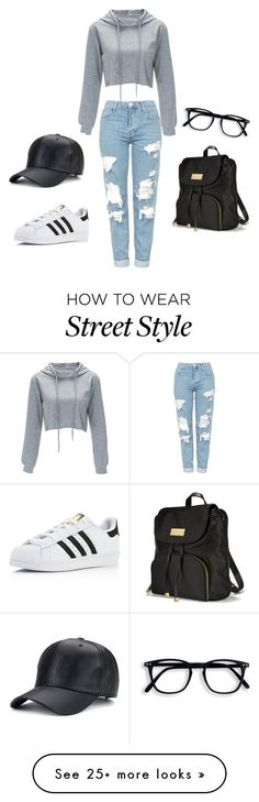 """""""street style"""" by marion-randrianarisoa on Polyvore featuring Topshop, adidas and Victoria's Secret"""