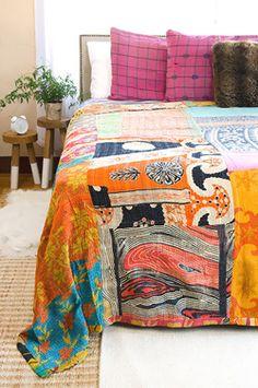 Kantha Quilt - Queen Bedding Set - CQ66