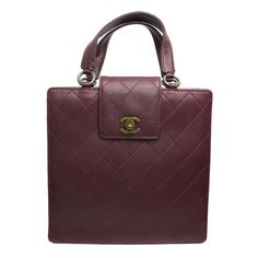 1990s Chanel Burgundy Quilted Flap Bag