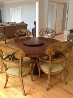 Beautiful I Really Want A Large Round Dining Table... Might Want The Legs Painted  Black | For The Home | Pinterest | Rustic Round Diningu2026