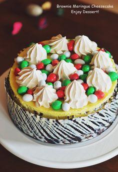 Brownie Cheesecake Brownie Cheesecake, Meringue, Cheesecakes, Deserts, Food, Merengue, Essen, Cheesecake, Postres