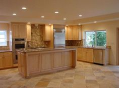 Pictures Of Kitchens Traditional Light Wood Kitchen Cabinets - Kitchen color schemes with light wood cabinets