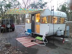 Nancy, our fully renovated 1967 Yellowstone camper.
