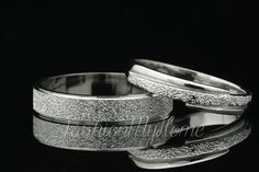 2pcs Couples Rings Set Custom Engraving Silver Ring Frosted Ring Lovers Ring Wedding Ring Set His And Her Promise rings Valentine's Day gift