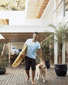 House & hot man & dog & surf?!?? Yes, yes, yes, & yes!!!!