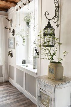 Hauseingang #obstkiste #leiter #shabby #landhausstil #shabby ... Gestaltungsideen Fur Hauseingang Blumen