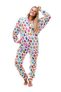 101417df98 Dog Pawz Go-Jamz Adult Jumpsuit via Kajamaz  Footed Pajamas and Jumpsuits  For Adults
