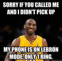 I'm not a Kobe fan but this is pretty funny #sportsmemes Kobe Memes, Funny Nba Memes, Funny Basketball Memes, Funny Quotes, Kobe Bryant Memes, Volleyball Memes, Hockey Memes, Nfl Memes, Memes Humor