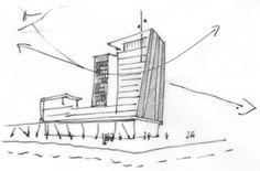 STEINMETZDEMEYER - Projects DBLN 0214 LANDMARK TOWER / U2 STUDIO SKETCH