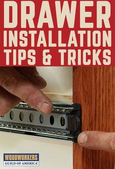 Mechanical drawer slides make it easy to open and close a drawer, but you've got to insert the drawer correctly to make sure you don't destroy the slide and end up with bearings all over the floor. Check out these drawer installation tips. #WoodworkingTips