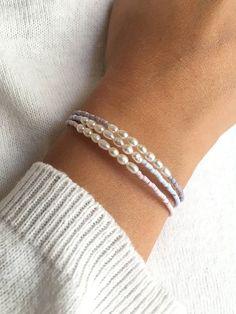 Tiny bracelet, Freshwater pearl bracelet, Minimalist bracelet, Bridesmaid gift – Make Jewelry Bracelets – Make Jewelry Cute Jewelry, Jewelry Crafts, Bridal Jewelry, Beaded Jewelry, Jewelry Bracelets, Jewelery, Handmade Jewelry, Beaded Necklace, Pearl Bracelets
