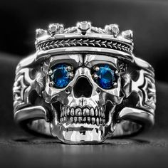 Find the Guardian men's silver skull ring, women's skull ring, and many more amazing biker skull rings at NightRider Jewelry Skull Jewelry, Jewelry Rings, Silver Jewelry, Jewelry Accessories, Punk Jewelry, Jewellery Earrings, Hippie Jewelry, Male Jewelry, Mens Skull Rings