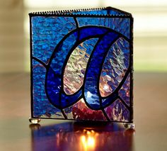 Stained Glass Candle Holder by StainedGlassDanaLin on Etsy, $45.00