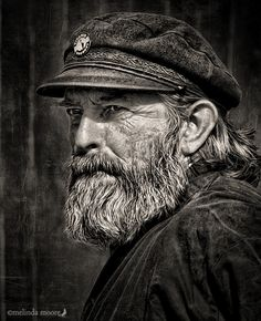 2014 International All Photography Online Art Exhibition - Overall Category Black And White Portraits, Black And White Photography, Old Man Portrait, Old Fisherman, Old Faces, Art Competitions, Awesome Beards, Interesting Faces, Male Face