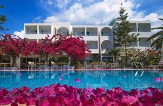 Hotels with Swimming Pool. In green surroundings, with spectacular views of the Ionian Sea, a swimming pool, pool bar and outdoor / indoor snack bar. Pool Bar, Beach Hotels, Wedding Locations, Indoor Outdoor, Swimming Pools, Mansions, House Styles, Green, Swiming Pool