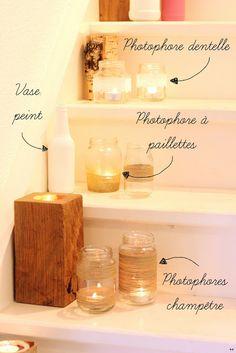 Une touche de rose: blog mode, photos, beauté, DIY, voyage, déco, cuisine: Photophores & Vases :: DIY